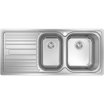 Abey Deluxe 1 and 3/4 Bowl Left Hand Drainer Sink DL180R